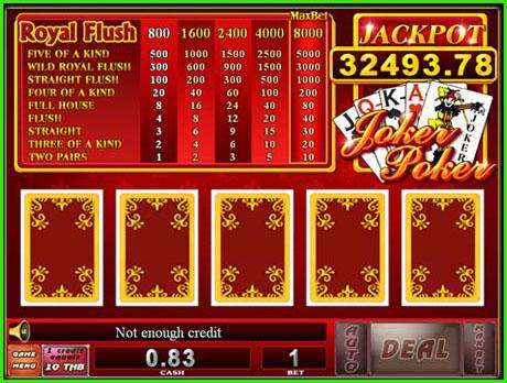 ไพ่ joker Poker 1